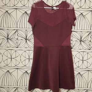 H&M Divided  Maroon Dress